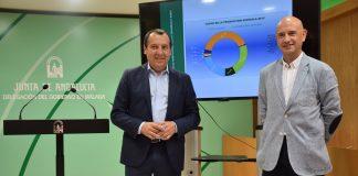 El delegado del Gobierno andaluz, José Luis Ruiz Espejo y el delegado territorial de Agricultura, Pesca y Desarrollo Rural, Javier Salas, han informado sobre el balance del sector agrícola, ganadero y pesquero en la provincia de Málaga.
