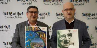 El alcalde de Vélez-Málaga, Antonio Moreno Ferrer, y el concejal de Turismo, Jesús Pérez Atencia, explicaron las acciones de promoción que se llevarán a cabo a finales de mes en Madrid,