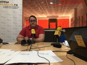 Pacheco, hoy en CADENA AXARQUÍA FM. En nombre de la Cofradía ha agradecido el apoyo recibido en estos duros momentos.