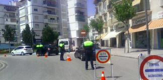 Imagen de un control de velocidad recientemente en el municipio de Vélez-Málaga.