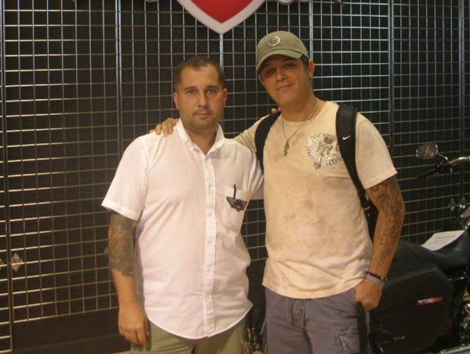 Francisco Alí Manén con Alejandro Sanz.