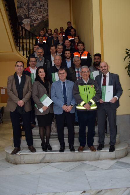 La Junta entrega los certificados de homologación de Planes de Emergencia  y frente a riegos a los municipios de Antequera, Benamocarra, Coín, Málaga y Periana