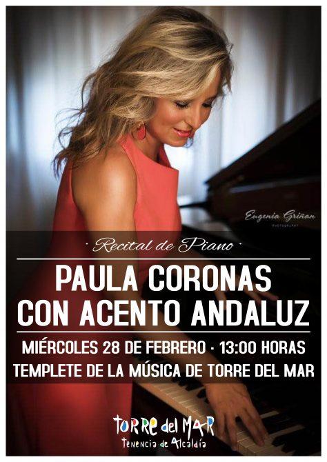 Torre del Mar celebrará el Día de Andalucía con un concierto de Piano de Paula Coronas