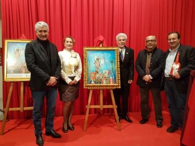 Antonio Hidalgo, autor del cartel de la Cofradía de Jesús Resucitado de Nerja