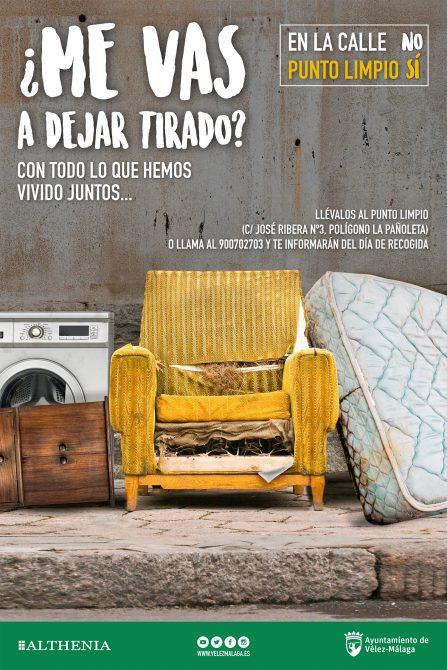 '¿Me vas a dejar tirado?', la nueva campaña de limpieza que pone en marcha el Ayuntamiento de Vélez-Málaga