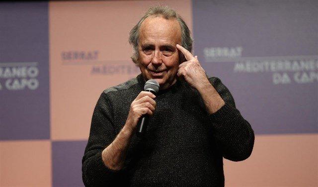 Serrat en la presentación en Madrid de una gira para conmemorar el disco 'Mediterráneo'.