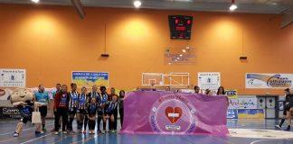 El Club Deportivo Balonmano Rincón Fertilidad ha desplegado una pancarta de apoyo a la iniciativa puesta en marcha por la Diputación de Málaga.