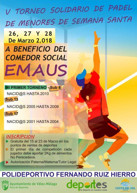Vélez-Málaga presenta el V Torneo Solidario de Pádel de Menores de Semana Santa