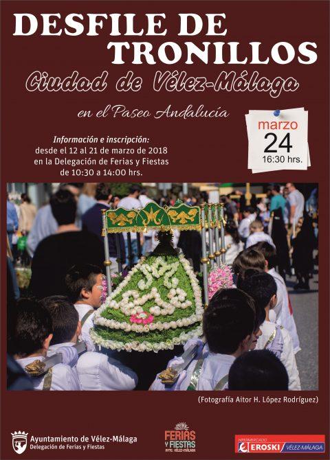 Ferias y Fiestas presenta una nueva edición del tradicional desfile de tronillos de Vélez-Málaga