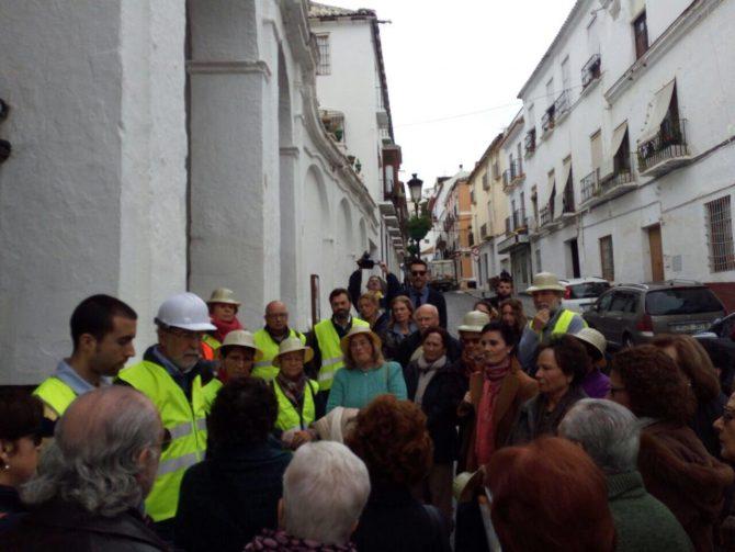 La Plataforma en Defensa de Las Claras quiere conocer el estado del convento tras la huella dejada por la borrasca Emma en el casco histórico veleño.