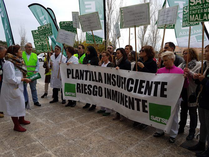 Protestas de las enfermeras de las Unidades de Hospitalización Quirúrgica del Hospital Clínico