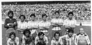 ARCHIVO: Nacho, el tercero por la derecha en la fila de arriba en una formación del CD Málaga.