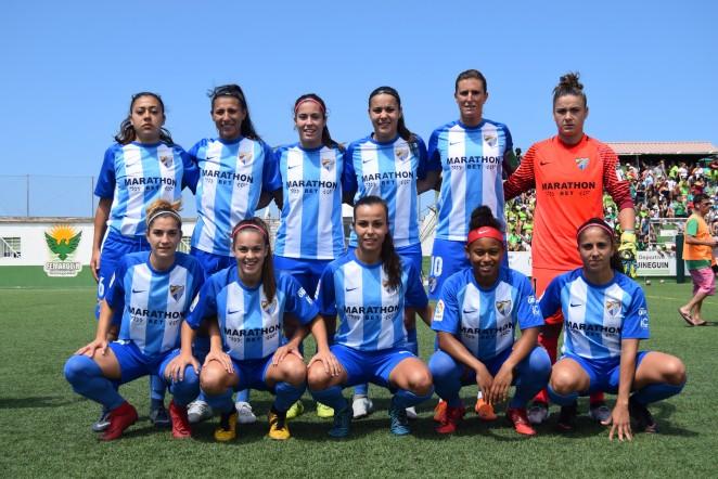 El Málaga CF Femenino es de Primera División tras imponerse con un gol de María Ruiz al CD Femarguín en Arguineguín (Gran Canaria).