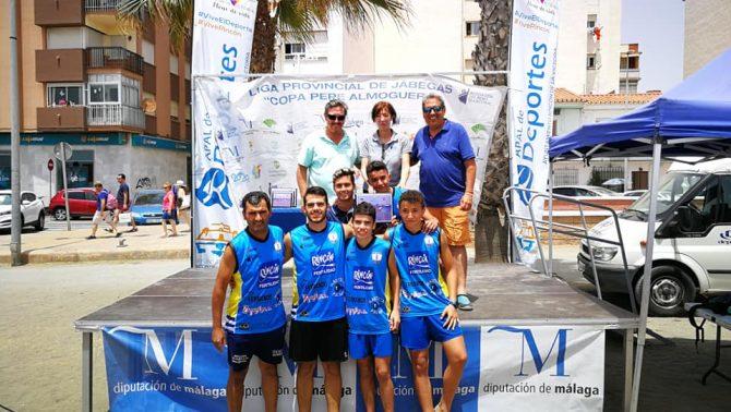 El Club de Remo Faro de Torre del Mar logra tres podios en el GP Rincón de la Victoria