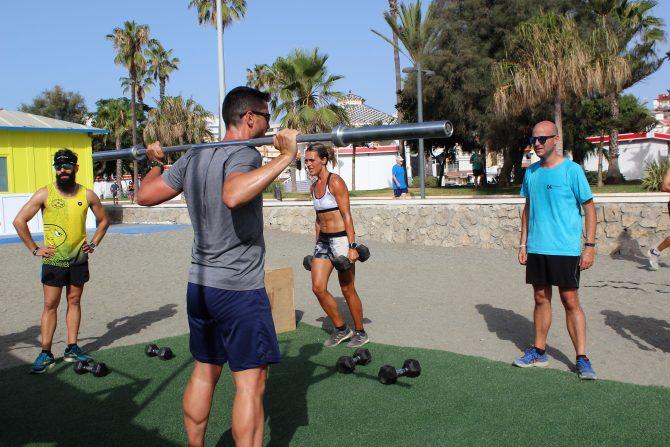 El CUBO FIT recibe la visita del Club Running Playas de Torre del Mar
