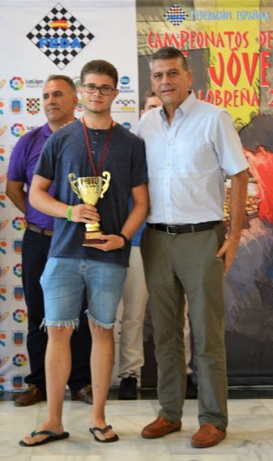 Manuel Muñoz Peláez se proclama Tercer  Clasificado del Campeonato de España de Ajedrez Sub-18
