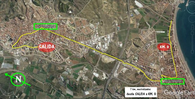 Recorrido oficial de la Cuarta etapa de La Vuelta por Vélez-Málaga.
