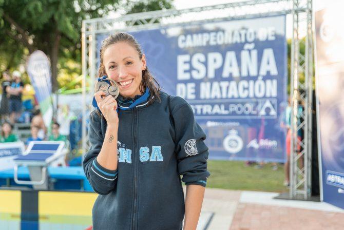 III Campus de Natación  Villa de Frigiliana con la visita de la nadadora Jessica Vall