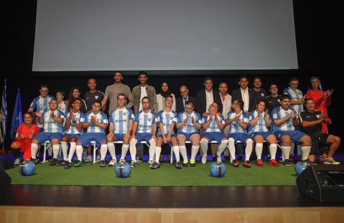 Presentación de la Escuela de Fútbol de Discapacidad Intelectual de la Fundación Málaga C.F.