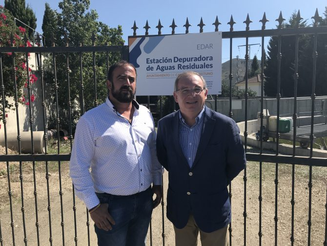 La Diputación realiza obras de mejora en la depuradora de Alcaucín