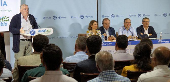 """Bendodo: """"El PP es la única garantía de que haya un Gobierno andaluz que atienda a la Axarquía"""""""
