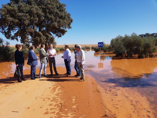 La Junta cifra en cerca de nueve millones de euros los daños provocados por el temporal en carreteras de Málaga