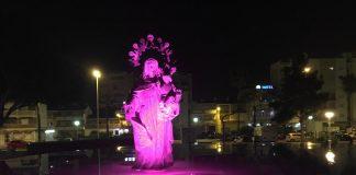 Desde este miércoles y hasta el próximo 31 de octubre, lucirá de rosa.