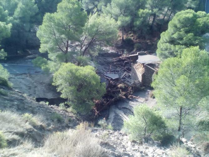 La Diputación proyecta soluciones para las tres carreteras provinciales más afectadas por las lluvias