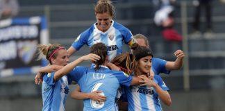 Los goles de Dominika y María Ruiz le dieron la primera victoria de la temporada al Málaga Femenino ante el RCD Espanyol.