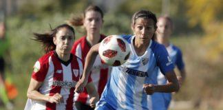 """La centrocampista del Málaga Femenino, que tuvo ocasión de igualar el encuentro con un disparo que se fue al palo, habló sobre la situación del equipo: """"Tenemos por delante mucho recorrido y este equipo tiene margen de mejora""""."""