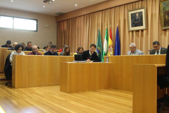 Imagen del Pleno Extraordinario celebrado hoy en Vélez-Málaga a petición del PP.