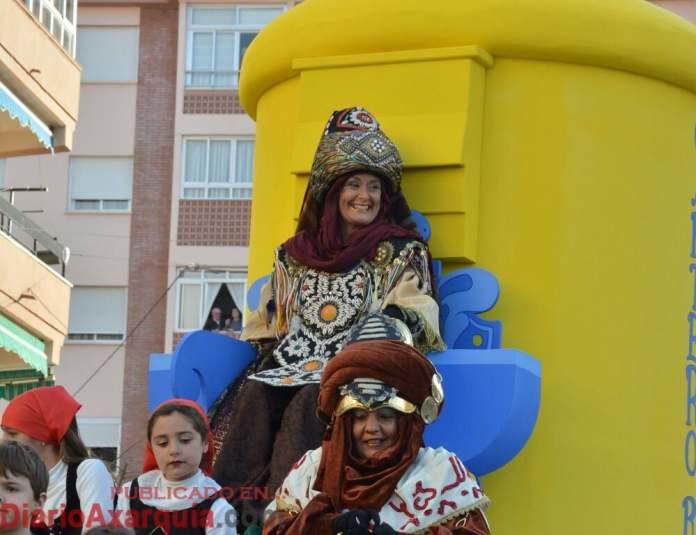Imagen de archivo de la llegada del Cartero Real a la ciudad de Vélez-Málaga.
