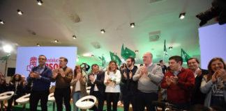 Momento del acto del 28 de febrero de los socialista andaluces en Antequera este fin de semana.
