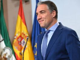 El consejero de Presidencia, Administración Pública e Interior, Elías Bendodo, asume las funciones de portavoz del Gobierno de la Junta de Andalucía, por decisión del Consejo de Gobierno.