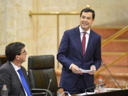 El presidente de la Junta de Andalucía, Juanma Moreno,.