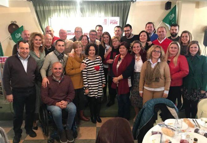 Susana Díaz participa en un encuentro encuentro con militantes socialista de la Axarquía