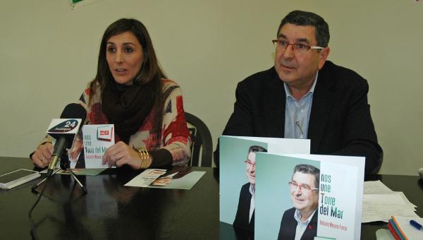 Imagen de archivo de la concejala Zoila Martín, en las últimas Elecciones Municipales junto al candidato Moreno Ferrer.