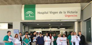Imagen de concentración en El Clínico de Málaga.
