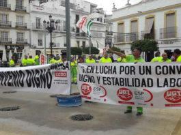 Imagen de una de las movilizaciones que el Sindicato de Construcción y Servicios de CCOO Málaga.