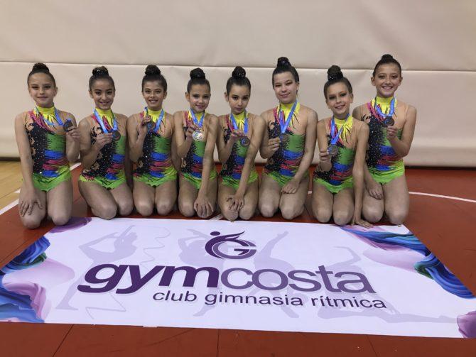 Grupo Mini del GYMCOSTA Nerja se  proclama campeonas  en la 1ºFase Nacional  Promesas  en su  categoría