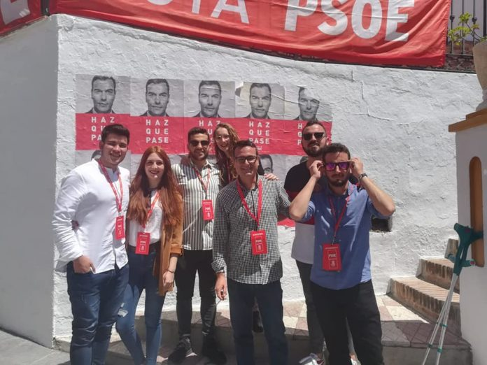Imagen de los socialistas de El Borge.