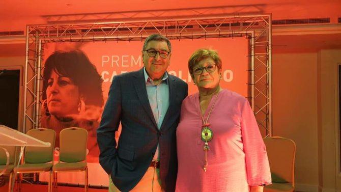 La socialista veleña María Salomé Arroyo, reconocida con el Premio Carmen Olmedo por su  lucha en favor de la igualdad