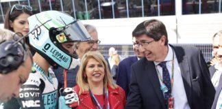 El vicepresidente de la Junta de Andalucía y consejero de Turismo, Juan Marín, al Gran Premio de España de Motociclismo de España, celebrado en el Cirtcuito de Jerez de la Frontera. Marín destacó el éxito de la prueba en el trazado andaluz, tanto en asistencia de público como en organización del acontecimiento y difusión de la imagen del destino.