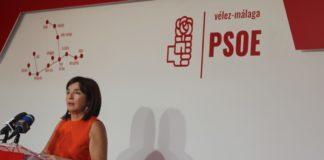 La concejala de Deportes y candidata número cuatro del PSOE de Vélez-Málaga, María José Roberto.