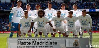 El Real Madrid salió al campo con camisetas de apoyo a Casillas.