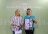 La concejala de Ferias y Fiestas, Lola Gámez, y la mayordoma de Triana, Neiva Guirado, informaron de la programación de actividades que se celebrarán en la localidad veleña del 21 al 23 de junio.