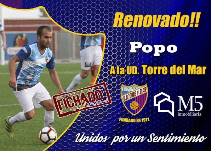 'Benji' y Popo renuevan con la Unión Deportiva Torre del Mar