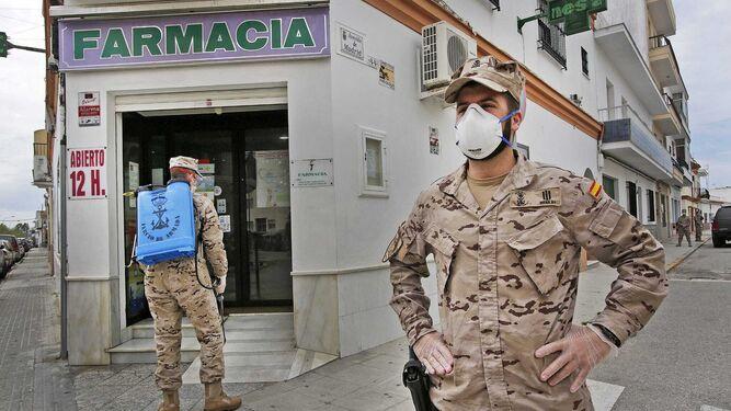 Entre los efectivos que componen las unidades de la Infantería de Marina en la Bahía de Cádiz se han contabilizado 17 positivos en coronavirus confirmados por PCR.