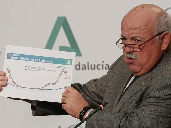 """El consejero de Salud y Familias asegura que la situación es estable en estos momentos en Andalucía pero ha pedido """"prudencia"""" a los andaluces Navidad."""