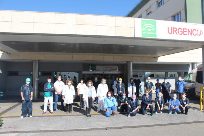 El grupo de Mejora de Humanización en Urgencias Hospital de la Axarquía está liderado por el enfermero Salvador Rosado, y el equipo está compuesto por unas veinte personas de diferentes categorías